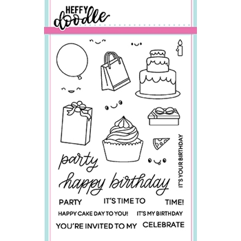 Heffy Doodle PARTY PALOOZA Clear Stamps hfd0060