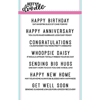 Heffy Doodle EVERYDAY SENTIMENT DUOS Clear Stamps hfd0062