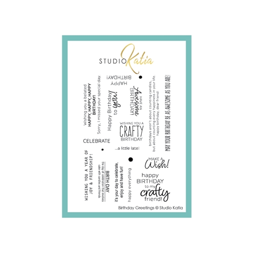 Studio Katia BIRTHDAY GREETINGS Clear Stamps stks057 Preview Image
