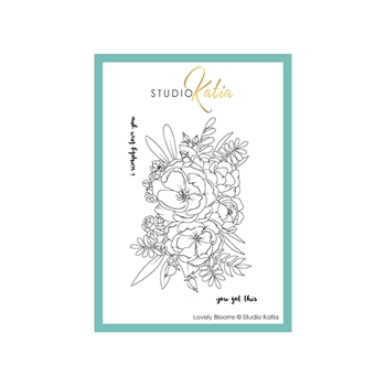 Studio Katia LOVELY BLOOMS Clear Stamps stks058