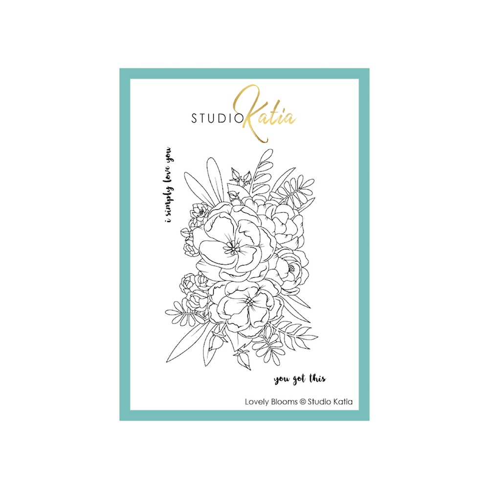 Studio Katia LOVELY BLOOMS Clear Stamps stks058 zoom image