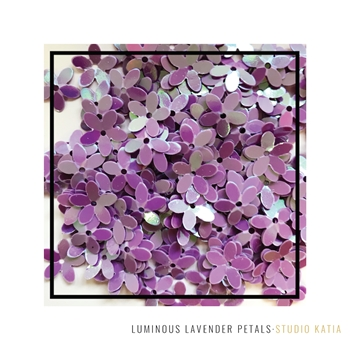 Studio Katia LUMINOUS LAVENDER PETALS Flower Sequins sk2515