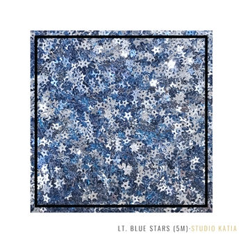 Studio Katia LIGHT BLUE Star Sequins sk2904