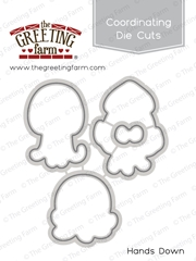 The Greeting Farm HANDS DOWN Coordinating Die Cuts TGF401