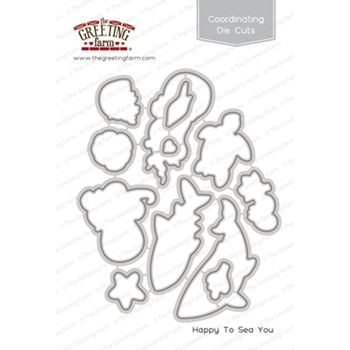 The Greeting Farm HAPPY TO SEA YOU Coordinating Die Cuts TGF403