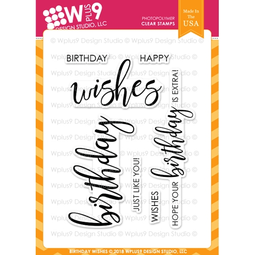 Wplus9 BIRTHDAY WISHES Clear Stamps cl-wp9bw Preview Image