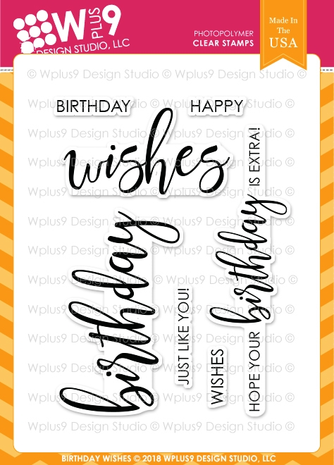 Wplus9 BIRTHDAY WISHES Clear Stamps cl-wp9bw zoom image