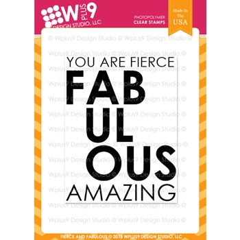 RESERVE Wplus9 FIERCE AND FABULOUS Clear Stamps cl-wp9ffa