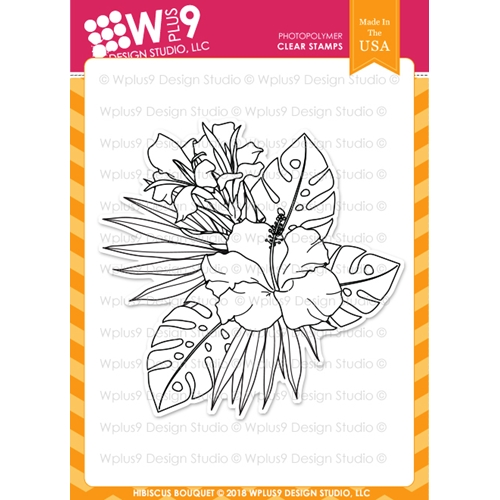 Wplus9 HIBISCUS BOUQUET Clear Stamps cl-wp9hib Preview Image