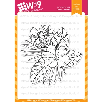 RESERVE Wplus9 HIBISCUS BOUQUET Clear Stamps cl-wp9hib