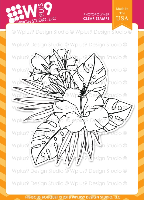 Wplus9 HIBISCUS BOUQUET Clear Stamps cl-wp9hib zoom image