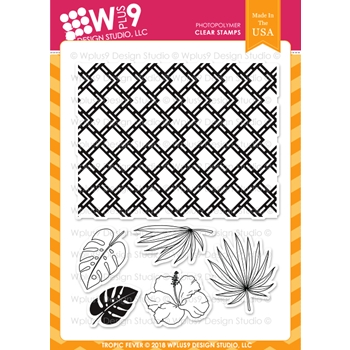 RESERVE Wplus9 TROPIC FEVER Clear Stamps cl-wp9trf