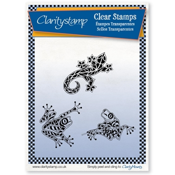 Claritystamp FROGS AND GECKOS Clear Stamps staan10606a5