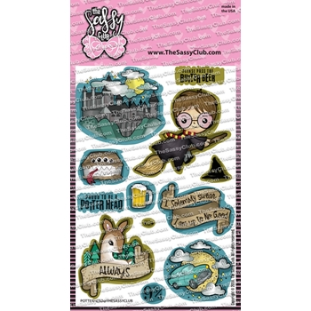 The Sassy Club POTTER HEAD Clear Stamps tscl153