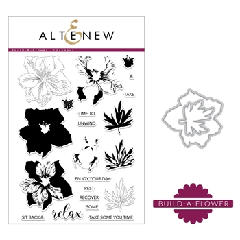 Altenew BUILD A FLOWER LARKSPUR Clear Stamp and Die Set ALT2298