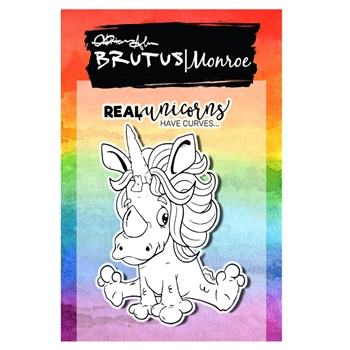 Brutus Monroe Clear Stamps UNICORN CURVES bru5131