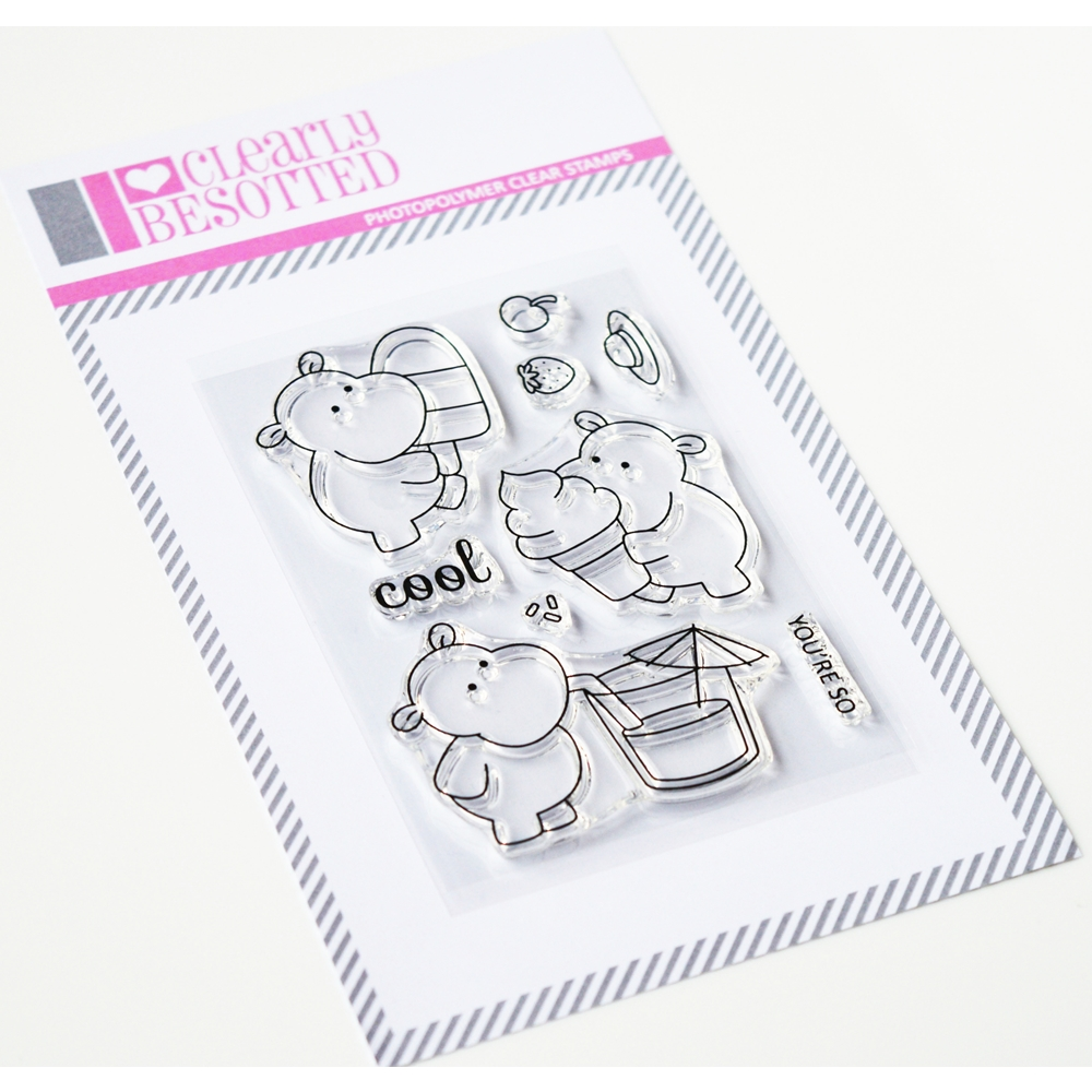 Clearly Besotted Stamps Cooling Off Clear Stamp Set