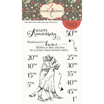 Colorado Craft Company Lovely Legs ANNIVERSARY Clear Stamps LL206