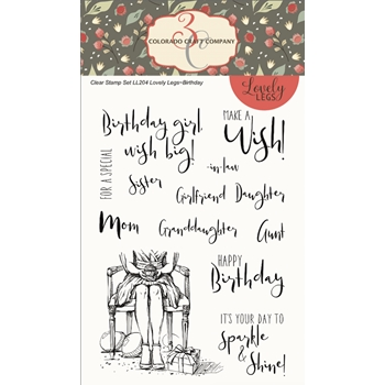Colorado Craft Company BIRTHDAY Clear Stamps LL204