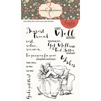 Colorado Craft Company GET WELL Clear Stamps LL203