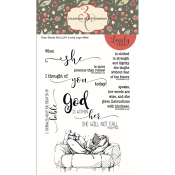Colorado Craft Company BIBLE Clear Stamps LL201