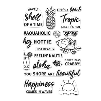 Hero Arts Clear Stamps BEACH MESSAGES CM278