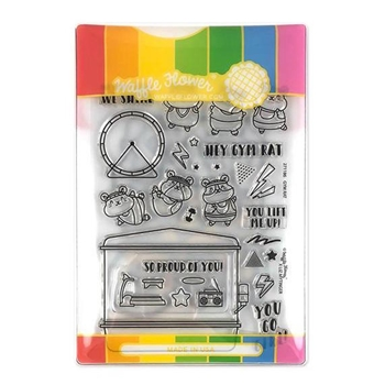 Waffle Flower GYM RAT Clear Stamps and Die Combo WFC186