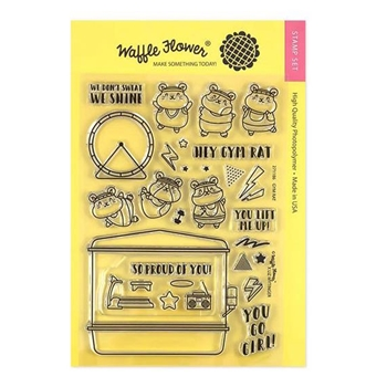 Waffle Flower GYM RAT Clear Stamps 271186