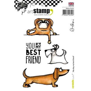 Carabelle Studio MY DOG, MY BEST FRIEND Cling Stamp sa60738e