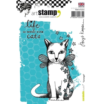 Carabelle Studio CAT ANGEL Cling Stamp sa60373e