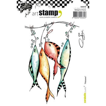 Carabelle Studio POISSONS Cling Stamp sa60370