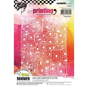 Carabelle Studio LABYRINTHE Art Printing Texture Plates ap60023
