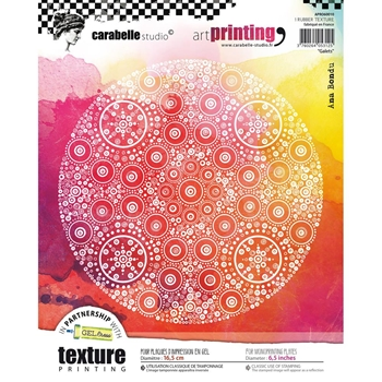 Carabelle Studio GALETS Art Printing Texture Plate Round apro60010