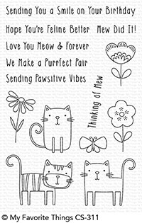 My Favorite Things MEOW MIX Clear Stamps cs311