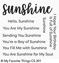 My Favorite Things FULL OF SUNSHINE Clear Stamps cs301 Preview Image