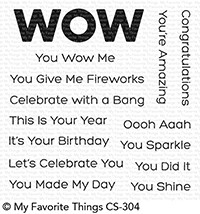 My Favorite Things YOU WOW ME Clear Stamps cs304