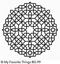 My Favorite Things MOROCCAN MOSAIC BACKGROUND Cling Stamp bg99