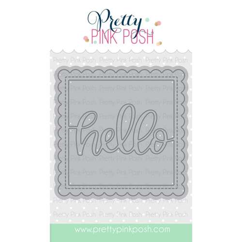 Pretty Pink Posh HELLO SHAKER Die Preview Image