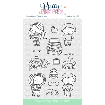 Pretty Pink Posh SCHOOL FRIENDS Clear Stamps