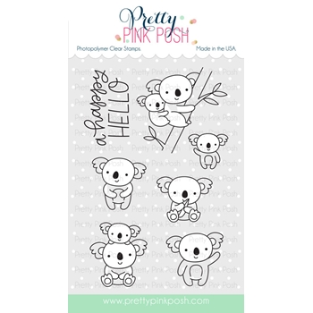 Pretty Pink Posh KOALA FRIENDS Stamps