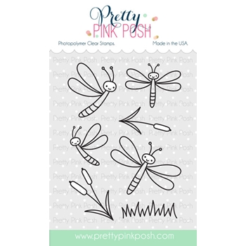 Pretty Pink Posh DARLING DRAGONFLIES Stamps