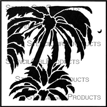 StencilGirl DREAM OF PALMS 6x6 Stencil s624