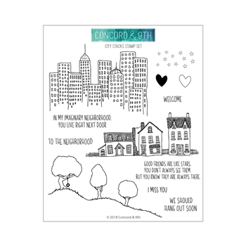 Concord & 9th CITY STACKS Clear Stamp Set 10417