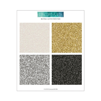 Concord & 9th NEUTRALS GLITTER 6x6 Paper Pack 10420