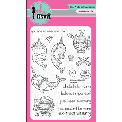 Pink and Main NARWHALS Clear Stamps PM0285 Preview Image