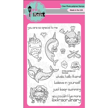 Pink and Main NARWHALS Clear Stamps PM0285