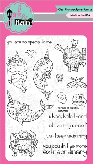 Pink and Main NARWHALS Clear Stamps PM0285 zoom image