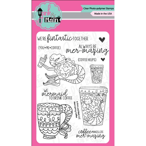 Pink and Main MERMAZING COFFEE Clear Stamps PM0283 Preview Image