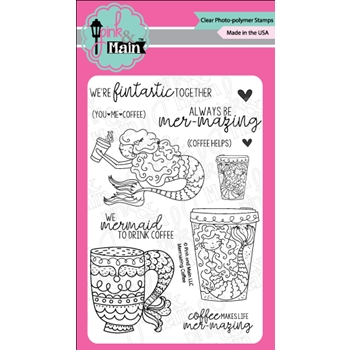 Pink and Main MERMAZING COFFEE Clear Stamps PM0283