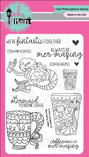 Pink and Main MERMAZING COFFEE Clear Stamps PM0283 zoom image